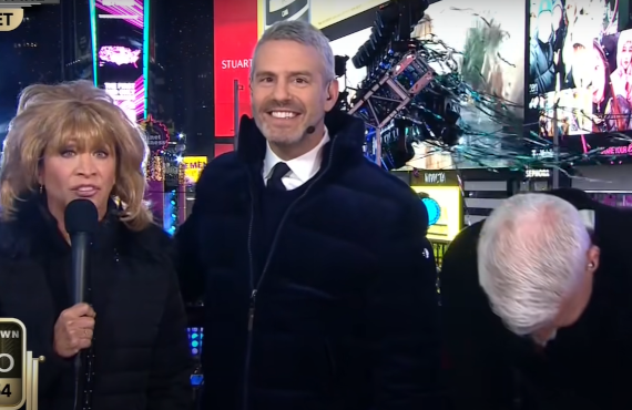 Cheri Oteri, Andy Cohen, Anderson Cooper on New Year's Eve Live (CNN)