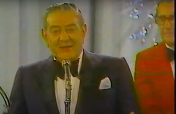 """Mr. New Year's Eve"" Guy Lombardo in 1976 (CBS)"