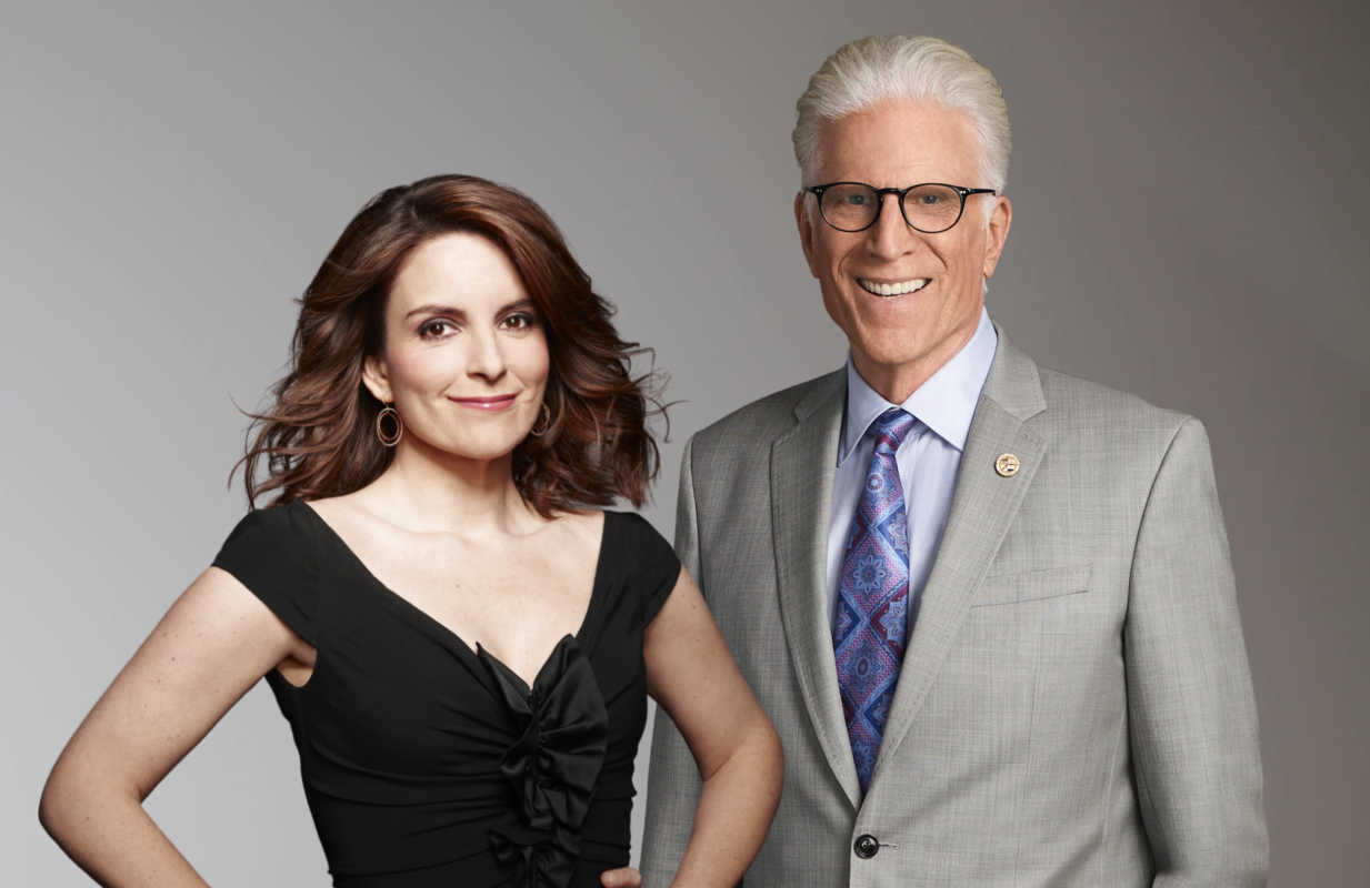 She produces, he stars: Tina Fey and Ted Danson's Mr. Mayor premieres tonight. (NBC)