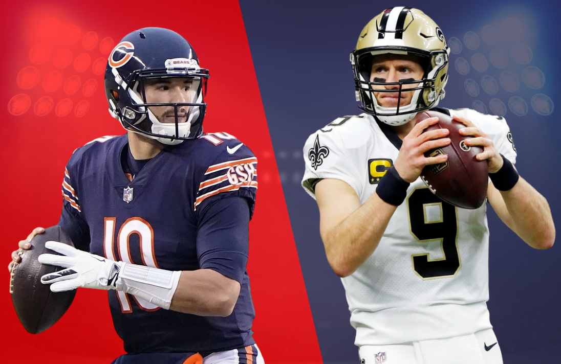 Mitch Trubisky and the Bears take on Drew Brees and the Saints Sunday afternoon in a game that will be simulcast on CBS, Amazon Prime and — for the first time ever — Nickelodeon.