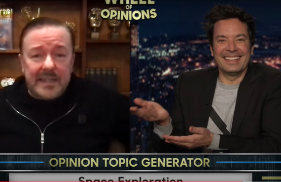 Ricky Gervais on The Tonight Show Starring Jimmy Fallon (NBC)