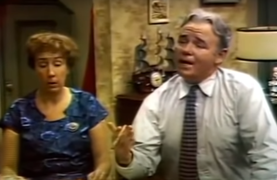 Jean Stapleton and Carroll O'Connor in All in the Family