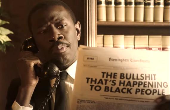 Sheaun McKinney as MLK in Drunk History (Comedy Central)