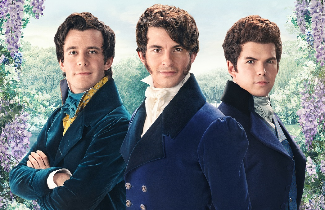 The Bridgerton Boys: Benedict (Luke Thompson),  Anthony (Jonathan Bailey), and Colin (Luke Newton). (Photo: Netflix)