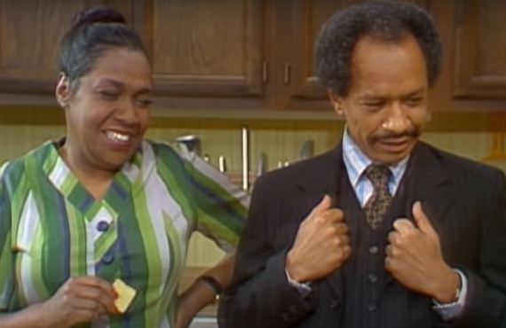 Isabel Sanford and Sherman Hemsley in The Jeffersons