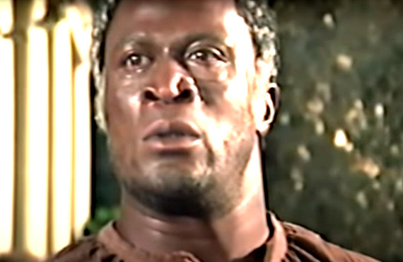John Amos as Kunta Kinte in Roots (ABC)