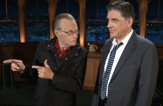 Larry King on The Late Late Show with Craig Ferguson (CBS)