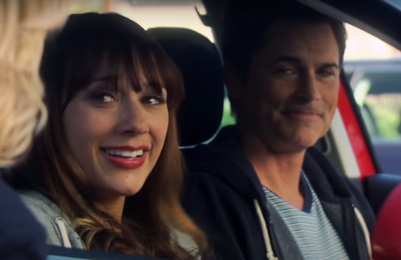 Rashida Jones and Rob Lowe on Parks and Recreation (Peacock)