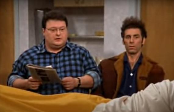 Wayne Knight and Michael Richards on Seinfeld (NBC)