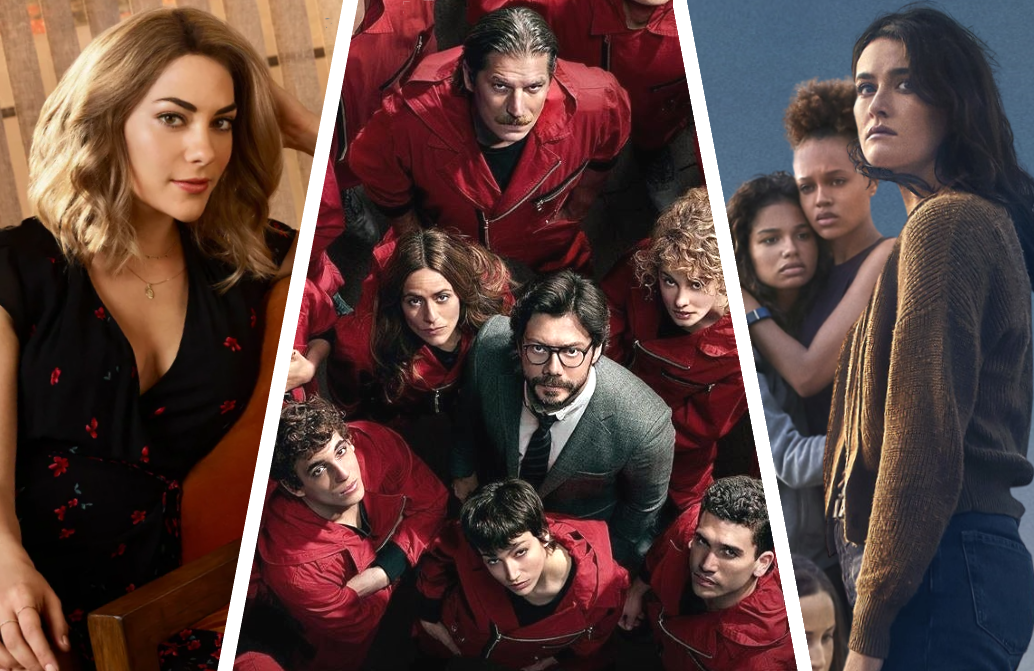 Left to right: The Imposters (Bravo), Money Heist/La Casa de Papel (Netflix) and The Wilds (Amazon).