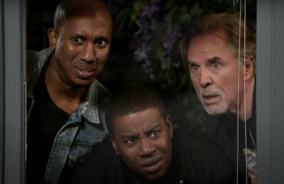 Chris Redd, Kenan Thompson, Don Johnson in Kenan (NBC)