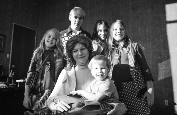 Carmichael with her kids in the mid 70s. (Photo: HBO)