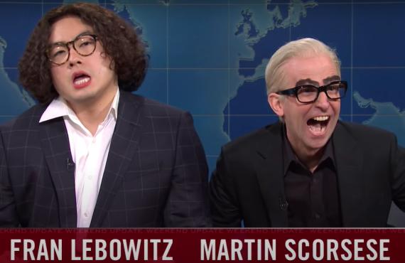 Bowen Yang and Kyle Mooney on Saturday Night Live (NBC)