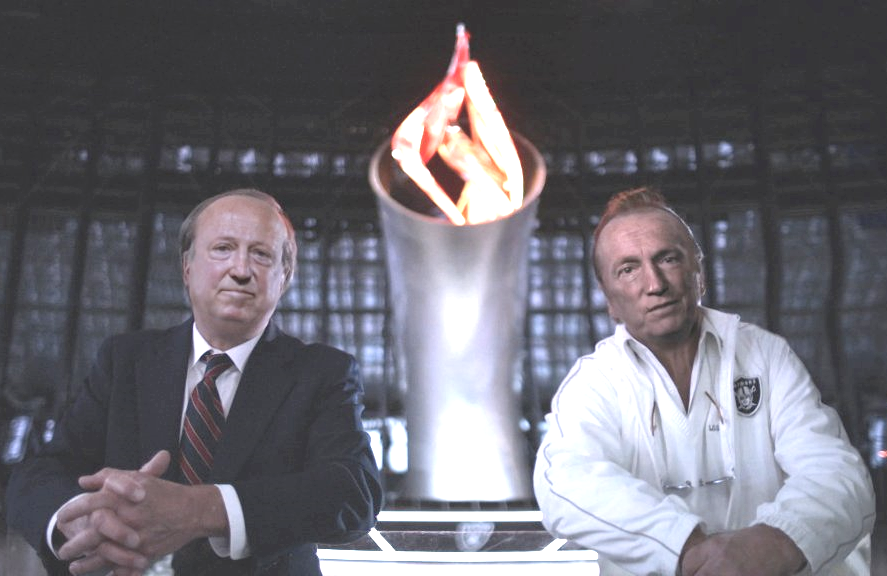 Sworn enemies Pete Rozelle and Al Davis recount their long-running feud (with an assist from deep fake technology) tonight on ESPN's 30 For 30: Al Davis vs The NFL. (Photo: ESPN)