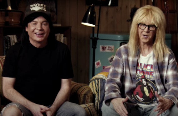 Mike Myers and Dana Carvey in Wayne's World Super Bowl Commercial