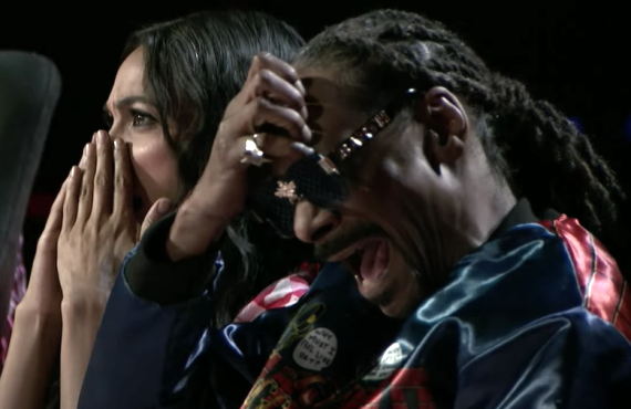 Rosario Dawson and Snoop Dogg on Go-Big Show (TBS)