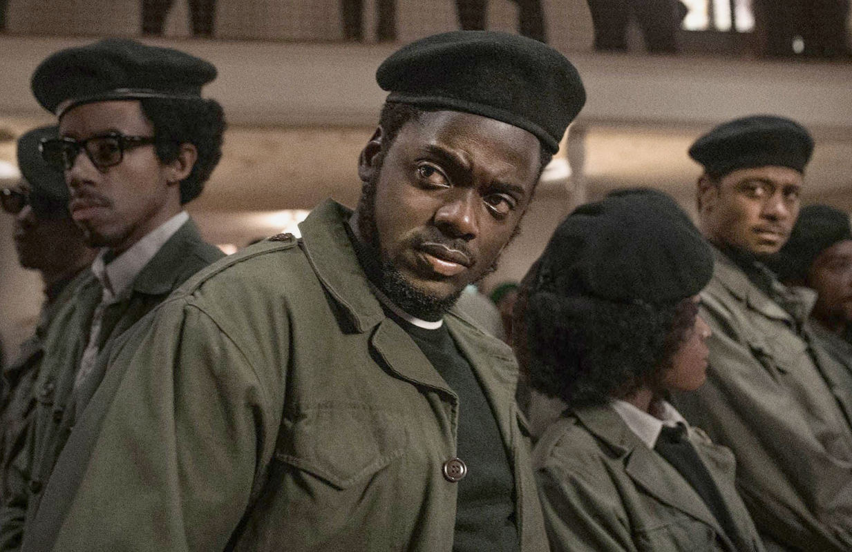 Darrel Britt-Gibson, Daniel Kaluuya and Lakeith Stanfield in Judas and the Black Messiah. (Photo: Glen Wilson/Warner Bros.)