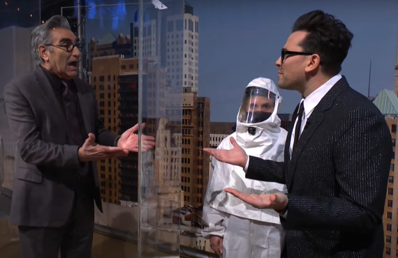 Eugene Levy and Dan Levy on Saturday Night Live (NBC)