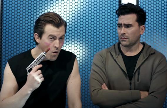 Alex Moffat and Dan Levy on Saturday Night Live (NBC)