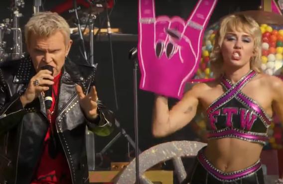 Billy Idol and Miley Cyrus