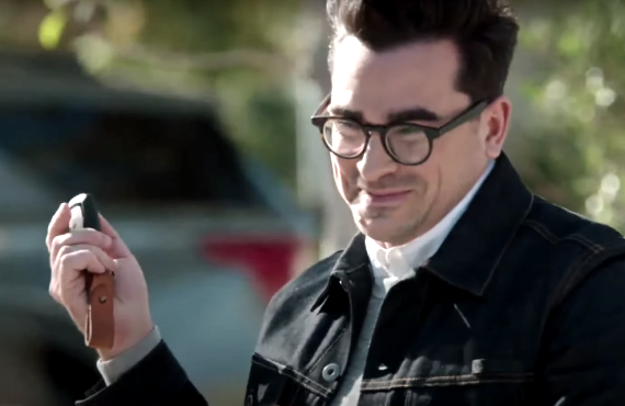 Dan Levy in Super Bowl LV M&Ms Commercial