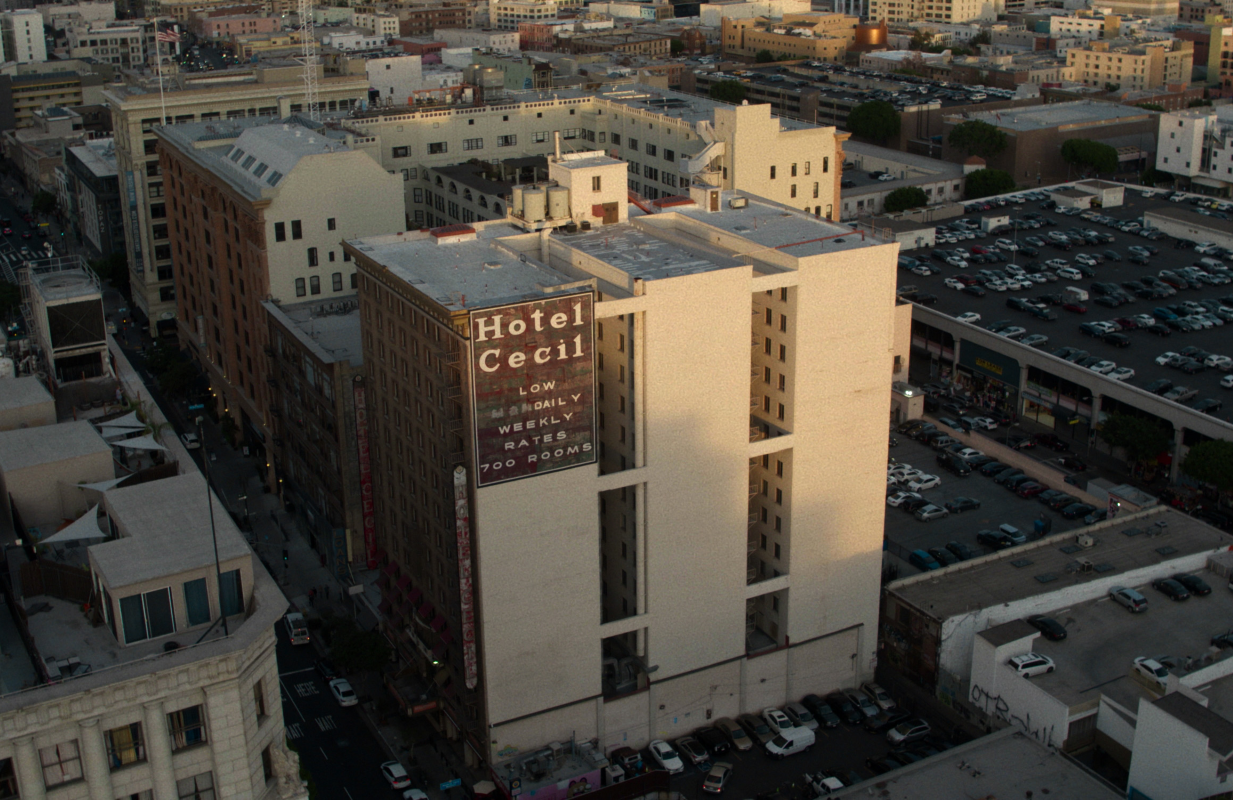 Netflix's four-part Crime Scene: The Vanishing at the Cecil Hotel  is the first installment in a new anthology looking at the role of place in a major case. (Netflix)