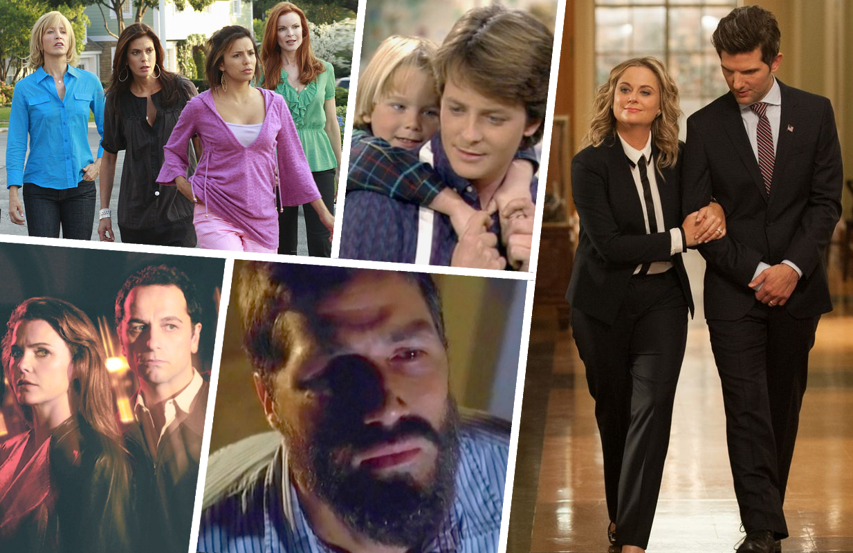 Desperate Housewives, Family Ties, The American, Lost, and Parks and Recreation are just a few of the shows that have employed the time-jump. (Photos: ABC, CBS, NBC, FX)