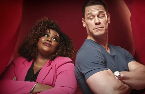 Nicole Byer and John Cena of Wipeout (TBS)