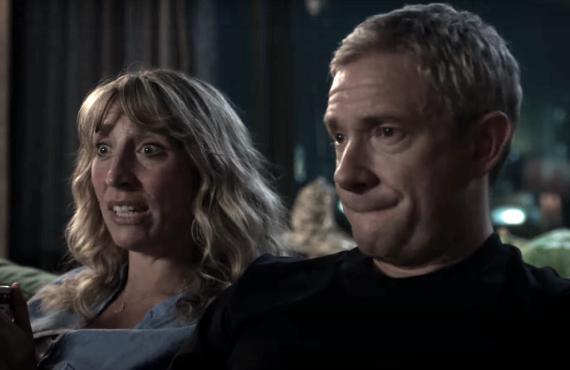 Daisy Haggard and Martin Freeman in Breeders (FX)