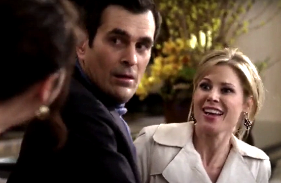 Ty Burrell and Julie Bowen in Modern Family (ABC)
