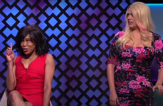 Regina King, Cecily Strong on Saturday Night Live (NBC)