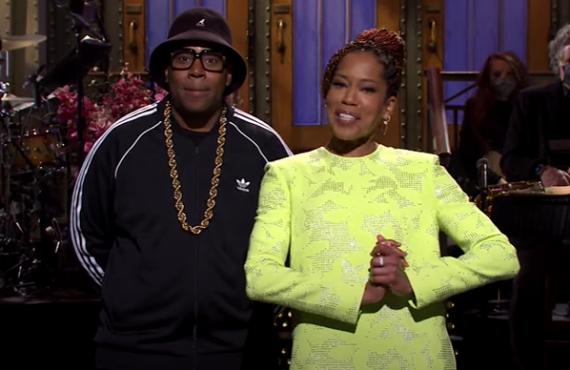 Kenan Thompson and Regina King on Saturday Night Live (NBC)