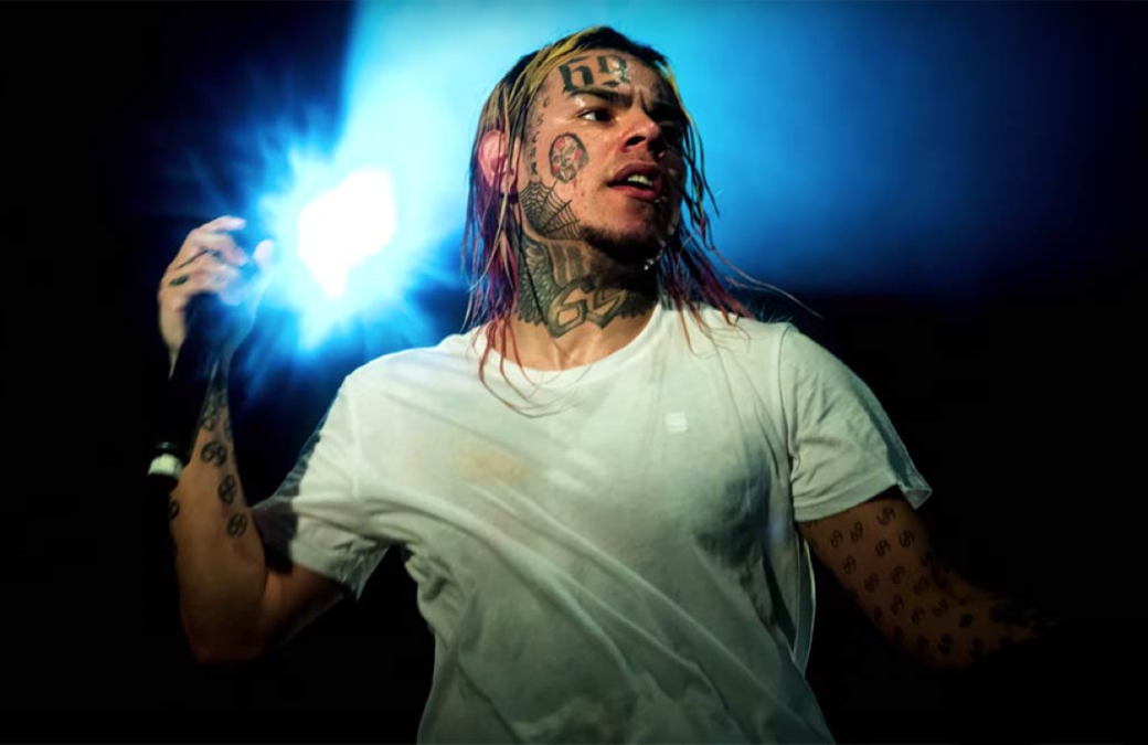 Tekashi 6ix9ine (aka Daniel Hernandez) in an image from Supervillain: The Making of Tekashi 6ix9ine. (Showtime)