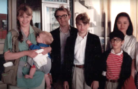 Mia Farrow, Woody Allen, Ronan Farrow, Soon-Yi Previn in Allen v. Farrow (HBO Max)
