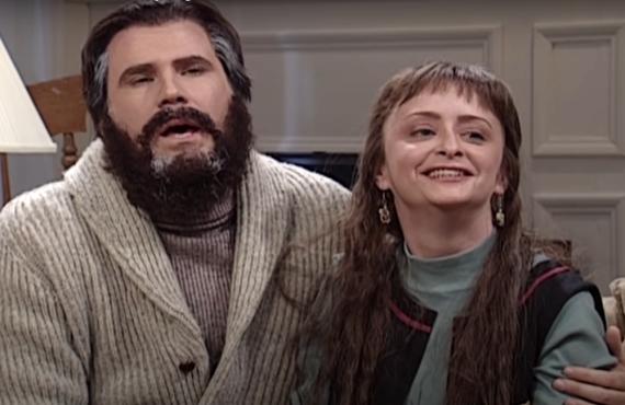 Will Ferrell and Rachel Dratch on Saturday Night Live (NBC)