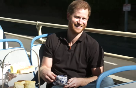 Prince Harry on The Late Late Show with James Corden (CBS)