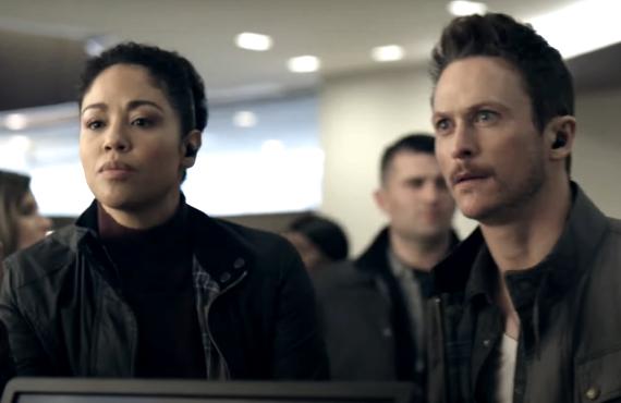 Riann Steele and Jonathan Tucker in Debris (NBC)