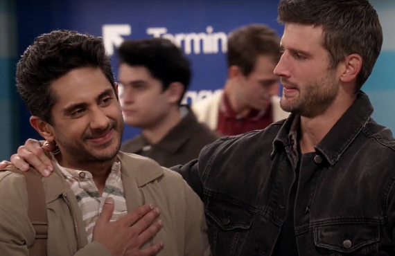 Adhir Kalyan and Parker Young in The United States of Al (CBS)