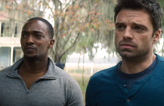 Anthony Mackie and Sebastian Stan in The Falcon and the Winter Soldier (Disney+)