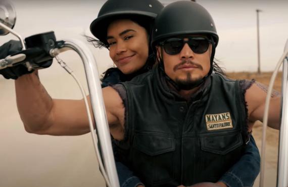 Sulem Calderon and J.D. Pardo in Mayans MC (FX)