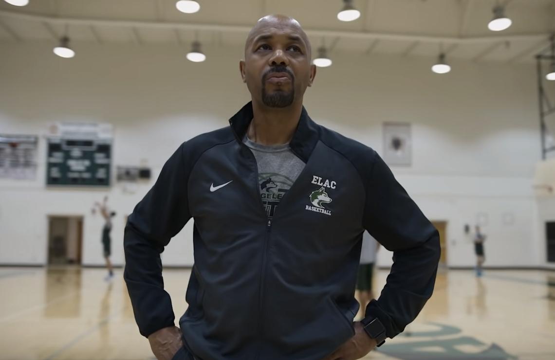 Coach John Mosley in Last Chance U: Basketball. (Netflix)