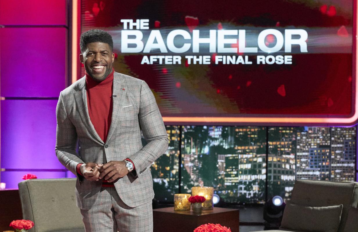 Emmanuel Acho hosts The Bachelor: After the Final Rose. (Photo: ABC/Craig Sjodin)