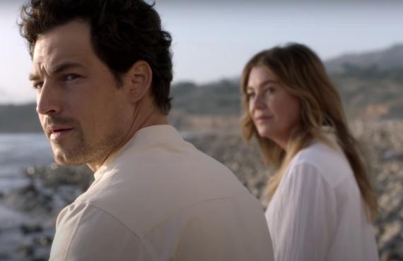 Giacomo Giannioti and Ellen Pompeo on Grey's Anatomy (ABC)