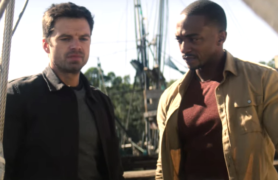 Sebastian Stan and Anthony Mackie in The Falcon and the Winter Soldier (Disney+)