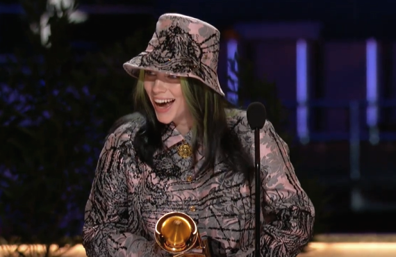 Billie Eilish at The Grammy Awards (CBS)