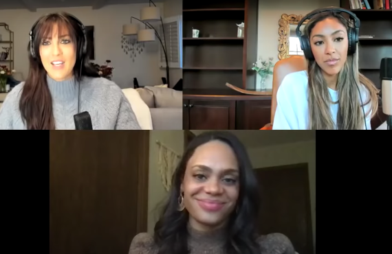 Becca Kufrin, Tayshia Adams, Michelle Young on Bachelor Happy Hour