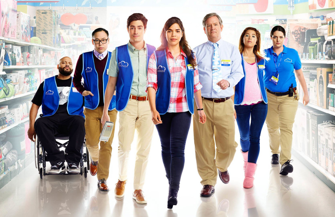 The cast of Superstore in 2015. (NBC)