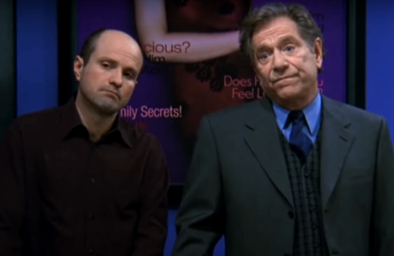 Enrico Colantoni and George Segal on Just Shoot Me! (Hulu)