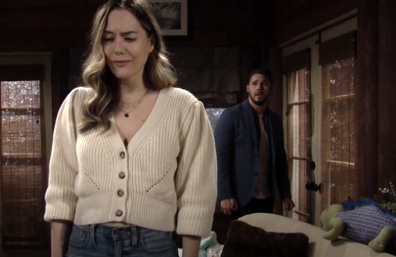 Annika Noelle and Scott Clifton on The Bold and the Beautiful (CBS)
