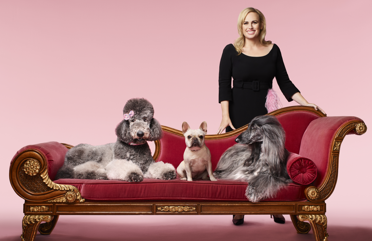 Rebel Wilson with some im-paws-ibly cute friends in Pooch Perfect. (ABC)